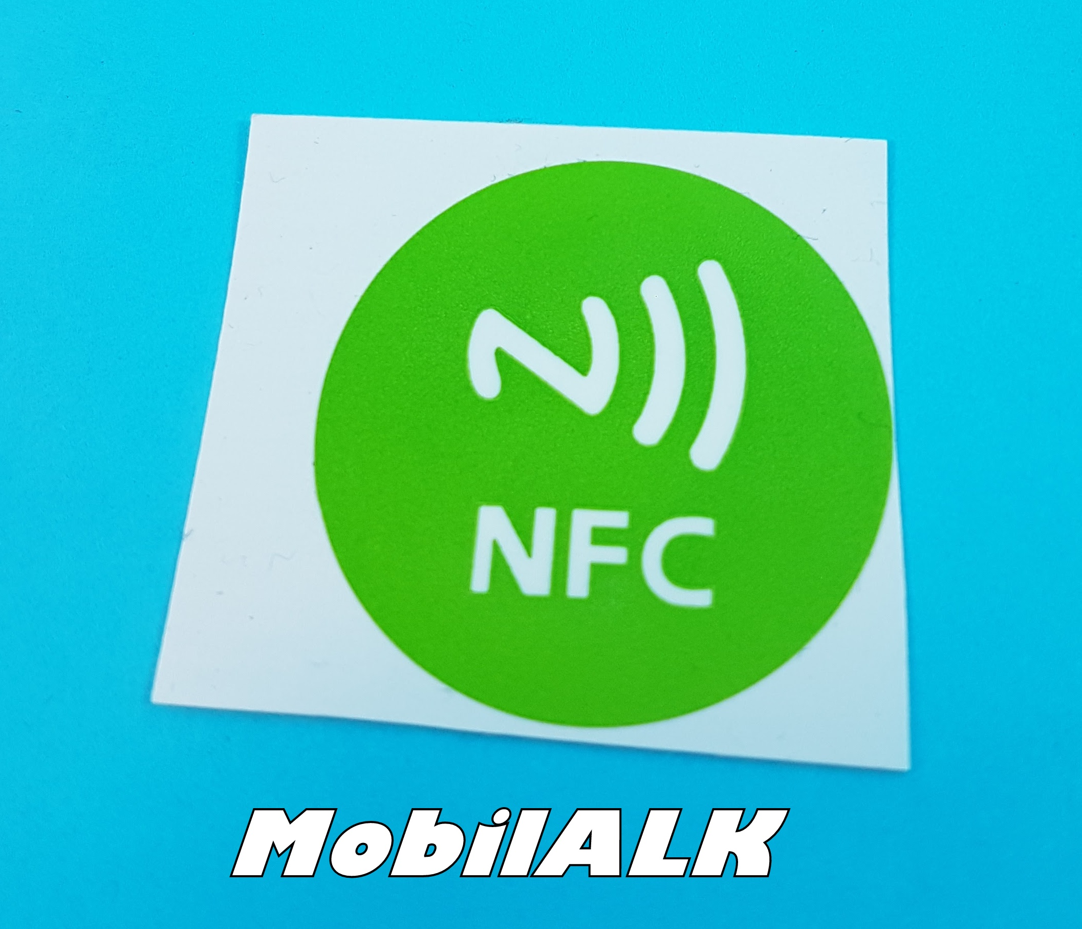 NFC Near field communication matrica sticker Android Windows iOS Új zöld