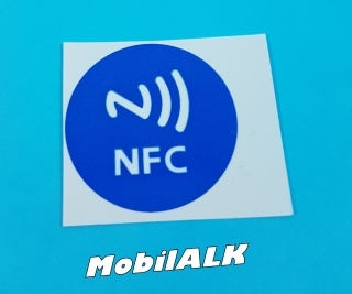NFC Near field communication matrica sticker Android Windows iOS Új kék