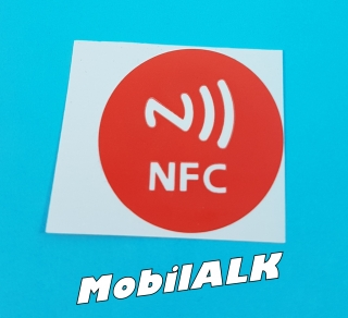 NFC Near field communication matrica sticker Android Windows iOS Új piros